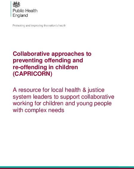 Collaborative approaches to preventing offending and re-offending in children (CAPRICORN).
