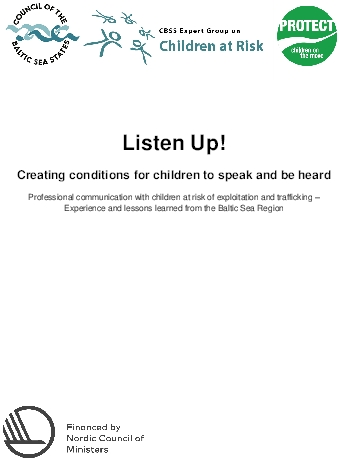 Listen Up! Creating conditions for children to speak and be heard.